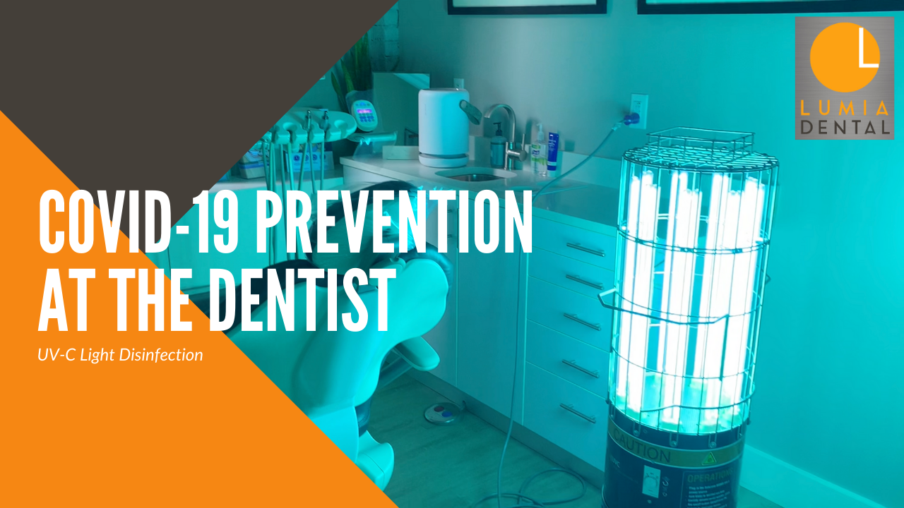 COVID-19 virus prevention at the dental office with powerful, hospital grade UV-C light disinfection